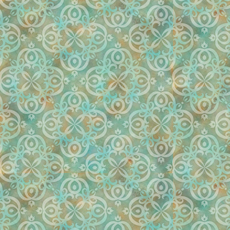 Quilting Treasures Arabesque Aqua