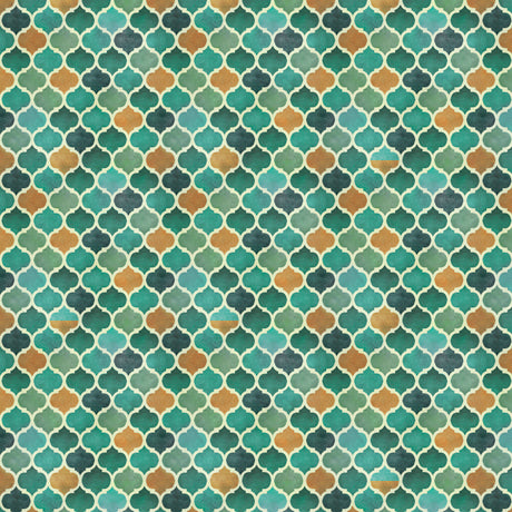 Quilting Treasures Arabesque Teal