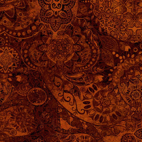 Quilting Treasures Bohemian Rhapsody Golden Brown