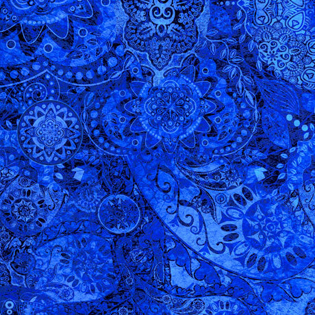 Quilting Treasures Bohemian Rhapsody Medium Blue