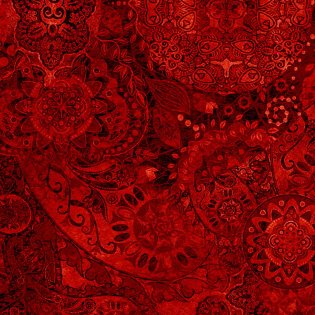 Quilting Treasures Bohemian Rhapsody Red