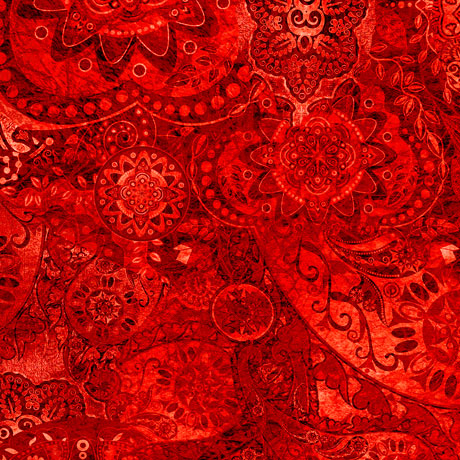 Quilting Treasures Bohemian Rhapsody Red Hot