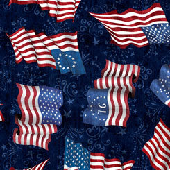 Quilting Treasures American Pride Navy