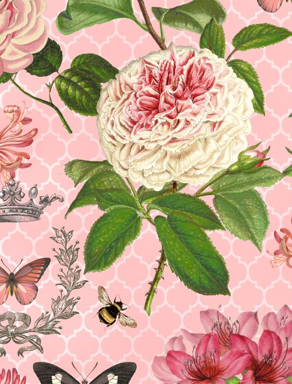 Wilmington Prints Le Bouquet Pink