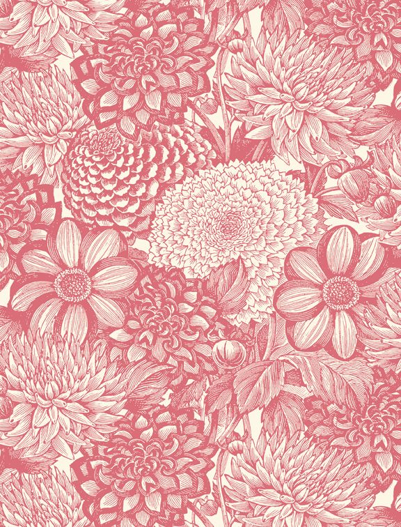 Wilmington Prints Le Bouquet Dusty Rose
