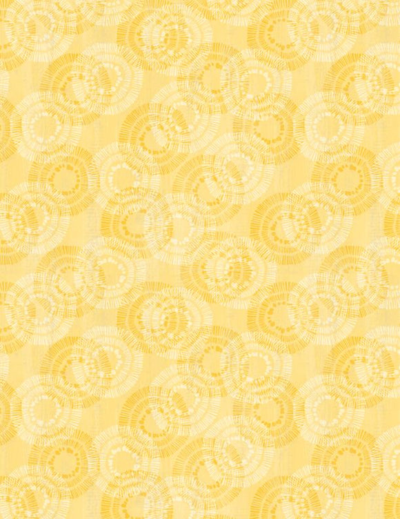 Wilmington Prints Essential Circle Burst Yellow