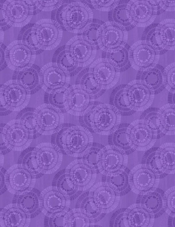 Wilmington Prints Essential Circle Burst Purple