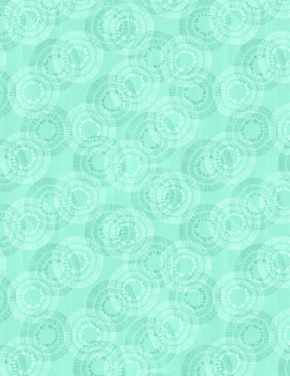 Wilmington Prints Essential Circle Burst Seafoam