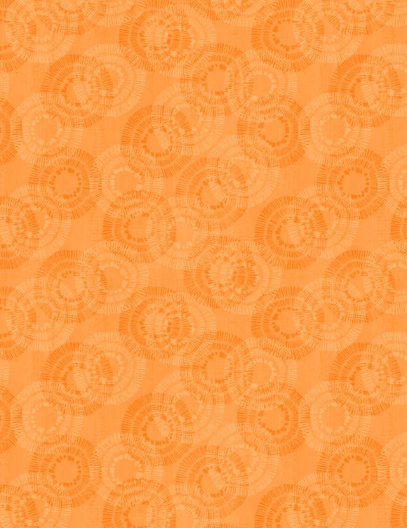Wilmington Prints Essential Circle Burst Orange