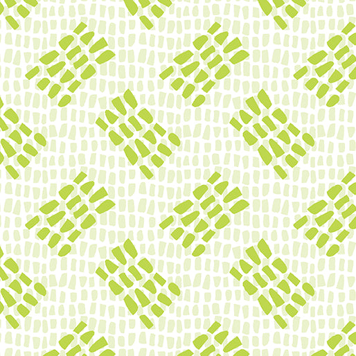 Benartex Abstract Garden Lime