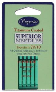 Superior Threads #70/10 Topstitch Titanium-coated Needles