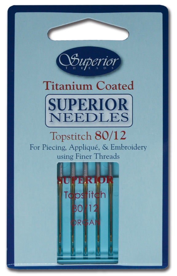 Superior Threads #80/12 Topstitch Titanium-coated Needles