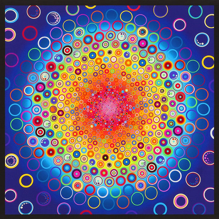 "Kaufman Effervescence Rainbow 42"" Panel"