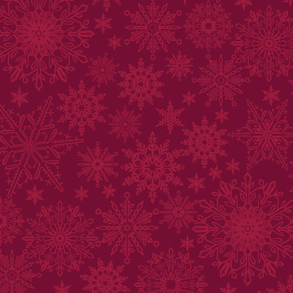 Benartex A Festive Season 3 Red