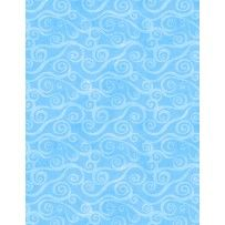Wilmington Prints Essential Swirly Scroll Light Blue