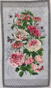 Chenilled Roses Quilt Kit
