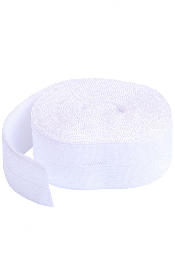 byAnnie Fold-Over Elastic White