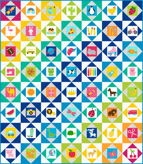 I-Spy Quilt Kit Spring Version