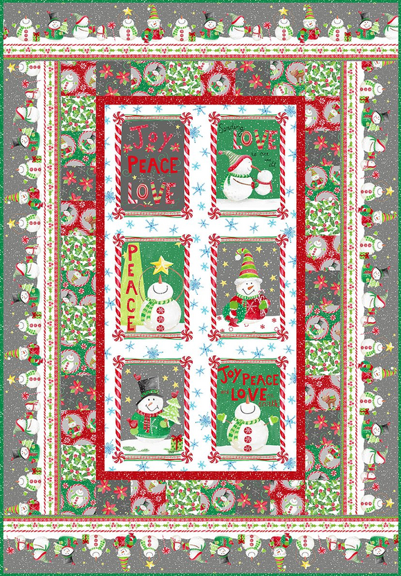 Joy Peace Love Quilt Kit