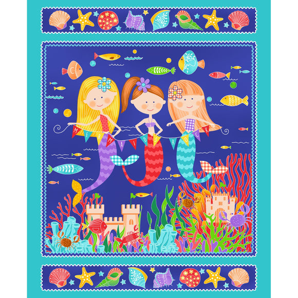 Studio e Fabrics Mermaids Rock Royal Multi 36