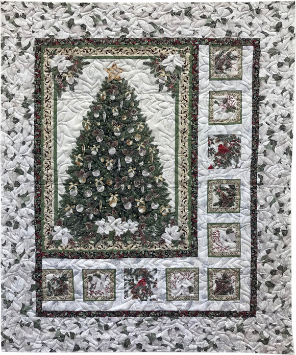 White Christmas Quilt Kit