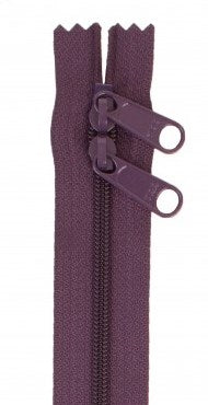 "byAnnie Eggplant 30"" Double Pull Zipper"