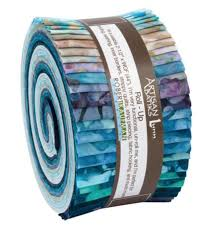 Kaufman Artisan Batiks Aqua Spa Roll Up