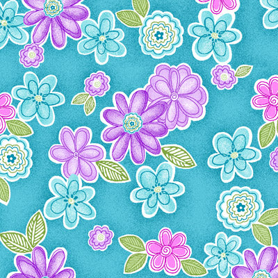 Studio e Fabrics Cotton Candy Flannel  Blue