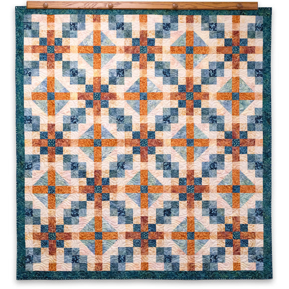 Chain Reaction Batik Quilt Kit (Wilmington Batiks)