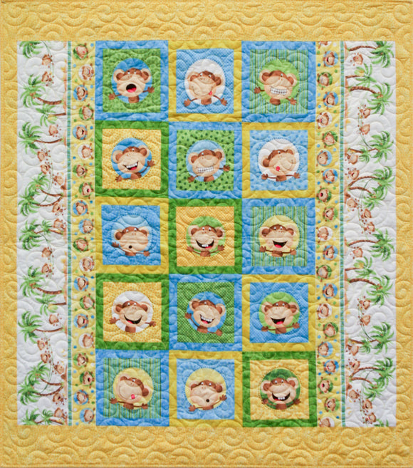 Cheeky Monkey  STORE SAMPLE QUILT - ONLY ONE AVAILABLE