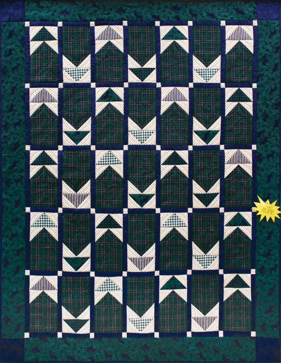 Dad's Plaids Flannel STORE SAMPLE QUILT - ONLY ONE AVAILABLE