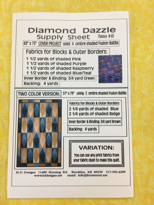 H.D. Designs Diamond Dazzle Pattern