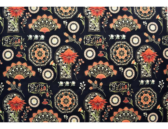 The Textile Pantry Melba Black Multi 24