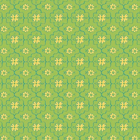 Quilting Treasures All A Flutter Lime