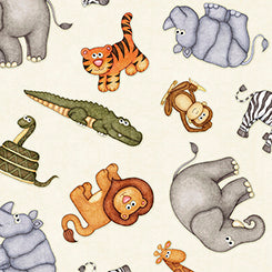 Quilting Treasures Jungle Buddies White