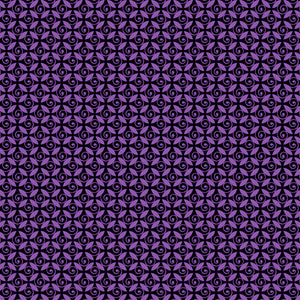 Benartex Pansy Noir Purple