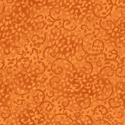 South Sea Imports Leafy Scroll Orange