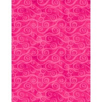Wilmington Prints Essential Swirly Scroll Hot Pink