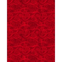 Wilmington Prints Essential Swirly Scroll Red