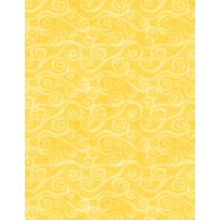 Wilmington Prints Essential Swirly Scroll Yellow