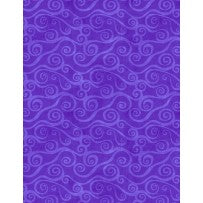 Wilmington Prints Essential Swirly Scroll Violet