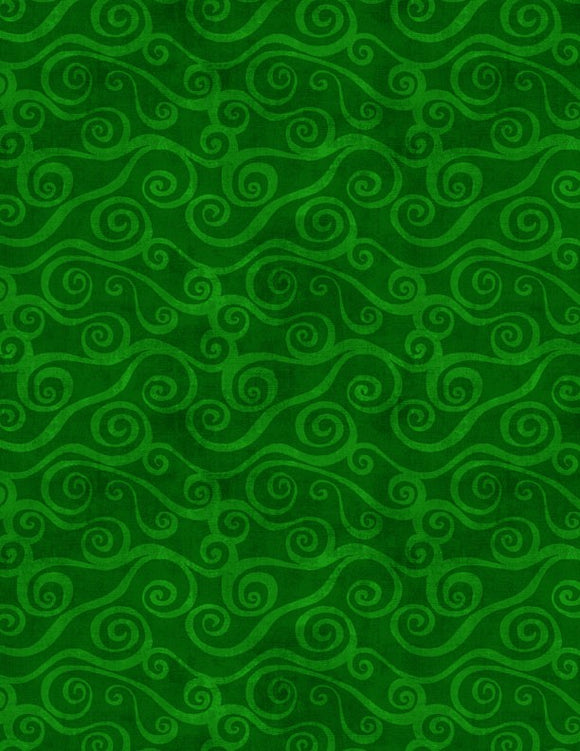 Wilmington Prints Essential Swirly Scroll Green