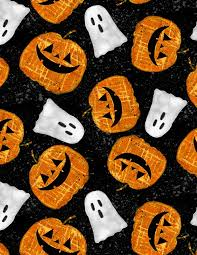 Wilmington Prints Spooky Vibes Black