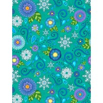 Wilmington Prints Arctic Wonderland Turquoise