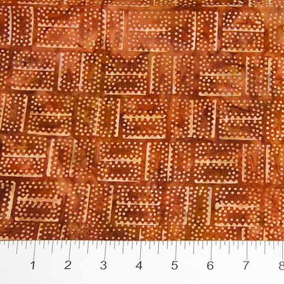 Banyan Batiks Brush Strokes Rust
