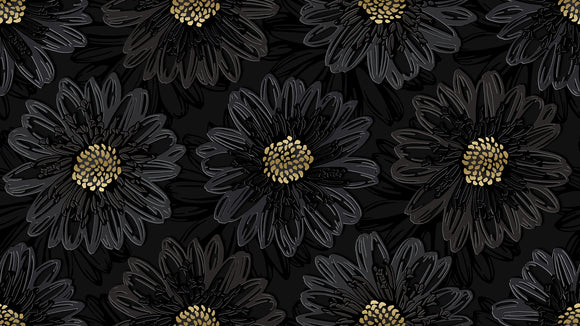 RJR Fabrics Shiny Objects Black