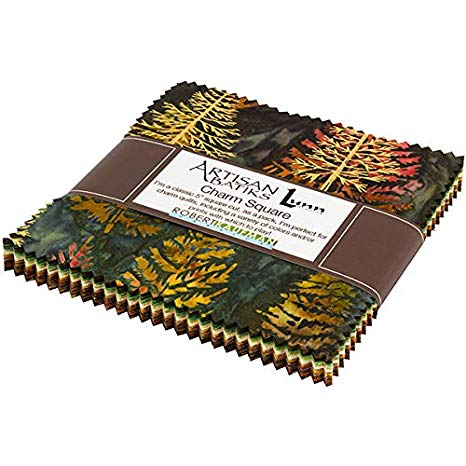 Kaufman Northwoods Batiks Forest Charm Square