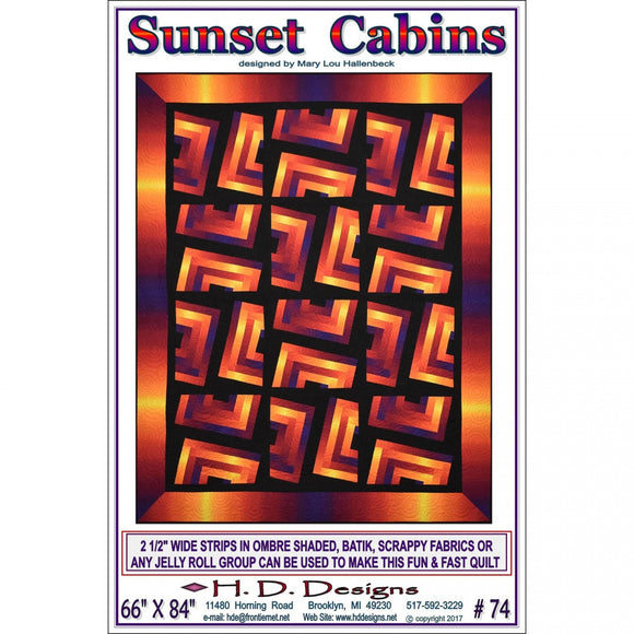 H.D. Designs Sunset Cabins Pattern