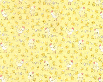 Timeless Treasures Cotton Tail Farm Yellow