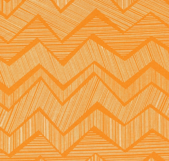 Timeless Treasures Chevron Citrus